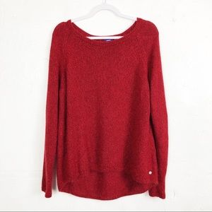 MEXX Chunky Knit Oversized Red Sweater